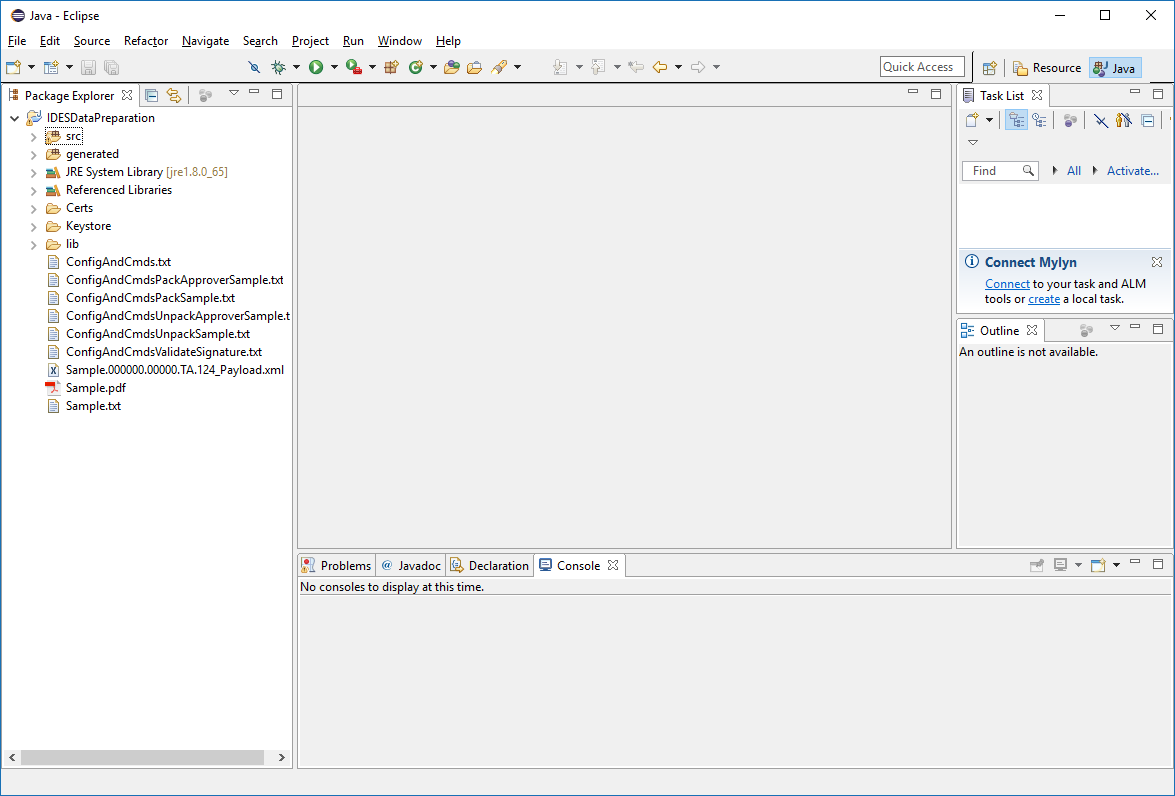 IDES Data Preparation - Java